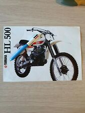 Yamaha HL 500 / XT 500 brochure (reproduction)