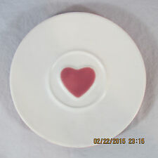 "Starbucks heart saucer porcelain original 2005 white pink 6 1/2"" no cup"