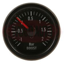 NEW 1 X 52mm 12 VOLT BOOST GAUGE -1 TO +2 BAR  CAR VAN RALLY MTR1000B12