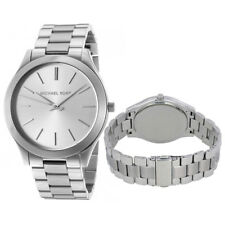New Michael Kors MK3178 Women's Runway Silver Dial Stainless Steel 42mm Watch