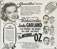 THE WIZARD OF OZ pressbook page, Judy Garland, Ray Bolger, Jack Haley
