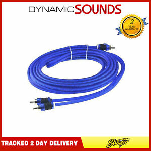 Stinger SI6217 17ft 5.2m 6000 Series 2 Channel Car RCA Amp Cable Lead