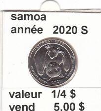 pièces de 1/4 $  samoa  2020 S