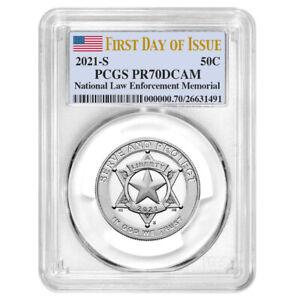 Presale - 2021-S Proof Clad 50c National Law Enforcement Half PCGS PR70DCAM FDOI