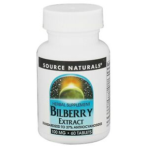 Source Naturals Bilberry Extract 100mg,  60 Tablets