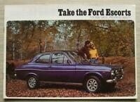 FORD ESCORT Car Sales Brochure Feb 1974 #FAI/Feb74 SPORT Estate 1300E L XL