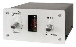 Dynavox TPR-2 - Sound Converter Tube Preamp Phono Pre-amplifier Silver TPR2