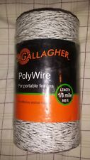 Gallagher Poly Wire Item G620044 1/8th Mile 660 Feet Free Shipping
