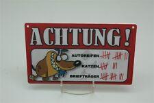 ACHTUNG - STRICHLISTE HUND HUNDE  Tierwarnschild -  Warnschild 20x12 cm 57