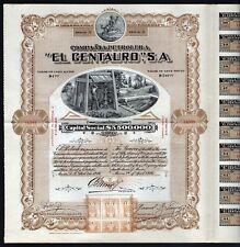 "New listing 1916 Mexico: Compania Petrolera ""El Centauro"", S.A."