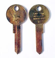 Vintage Lincoln Mercury Key Blanks One Pair Locksmith Keyblank 1127C USA