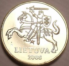 Gem Unc Lithuania 2008 20 Centu~Knight On a Horse~Excellent~Free Shipping
