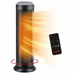 "2021 NEW 1500W Ceramic Tower Heater 24"" Fast Heating Quiet Portable Oscillation"