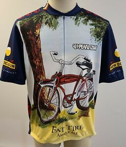 Pearl Izumi Fat Tire New Belgium Beer 3/4 Zip S/S Cycling Jersey Size XXL ~ Used
