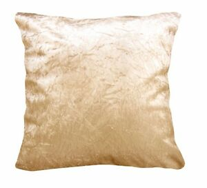 Mn125a Beige Crushed Velvet Style Cushion Cover/Pillow Case *Custom Size*