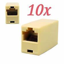 10x RJ45 Cat5e Straight Network Cable Joiner Connector Female Coupler Adapter UK