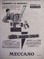PUBLICITÉ DE PRESSE 1956 MECCANO TRAIN HORNBY DINKY TOYS - ADVERTISING