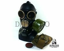 Soviet russian gas mask GP-7. Black rubber. New full set. Sizes S, M, L