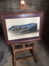 Moored Rowing Boat Original Watercolour