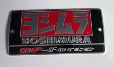Yoshimura GP-Force Aluminum Plate Decal Exhaust System Sticker Black/Silver