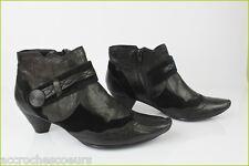 Bottines Boots marque FILLES Cuir et Daim Noir T 40 TBE