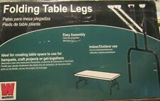 NEW!  Folding Banquet Table Legs  (2 Pack) Caps Floor Tips  Pair Support Metal