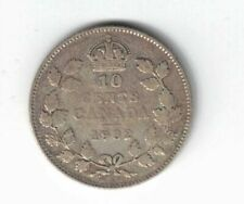 CANADA 1932 TEN CENTS DIME KING GEORGE V .800 SILVER COIN CANADIAN