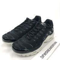 Nike Air Max Plus TN Men's 10 Running Shoes Black Summit White 898014-001 New