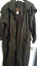 Outback Trading Company Australian Oil-skin Duster Trench Coat - Size XL Black