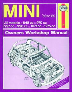MINI / Cooper 1959-1969 (850 1000 1100 1300) Reparaturanleitung workshop manual
