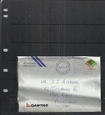 New Zealand 2000 Qantas Cover to Auckland Tied by Kiwi Mail Stamp VERY RARE!!!!!