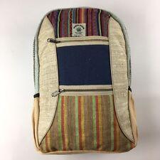 Nepal Himalayan hand Crafted Hemp Backpack Laptop Bag Summer Rucksack Fair Trade