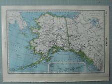 1952 MAP ~ ALASKA ALEUTIAN ISLANDS CORDOVA ANCHORAGE KETCHIKAN