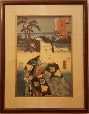 Actors at the Fifty-Three Stations of the Tokaido by Utagawa Kunisada Circa 1850