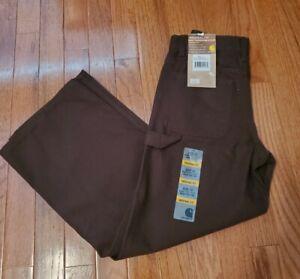 Carhartt Boys' Carpenter Pants Mustang Brown *10 Original Fit*