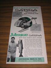 1961 Print Ad Johnson Sabra Closed Face Fishing Reels Mankato,MN