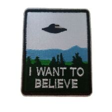 I want to Believe Iron On Patch Sew on Embroidered Transfer x files TV show