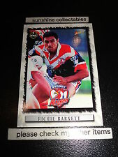 2000 SELECT NRL CARD NO.111 RICHIE BARNETT SYDNEY ROOSTERS