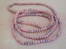 Pale Pink Drawbench Glass Spacer Beads 4mm 1 Strand