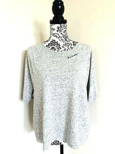 BONDS Comfy Livin' Grey Fleck Knit S/S Round Neck T Shirt Blouse Top Size XL EUC