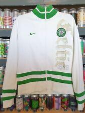 Nike Celtic Mens Medium Tracksuit Top Jacket White Green Retro Classic Scottish