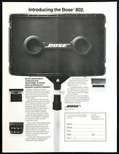 "1978 Bose 802 Speaker System photo ""It Makes Others Obsolete"" vintage print ad"