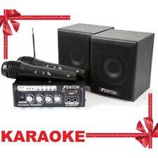 Ricondizionato Fenton Av380bt Set Amplificatore per Karaoke USB SD BT 2 x alto