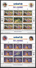 UNITED NATIONS , UNICEF , 2  SHEETS OF 8 STAMPS  , 1996 ,  PERF , MNH , CV$18.40