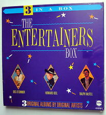 The ENTERTAINERS BOX Des O'Connor HOWARD KEEL Ralph McTell SEALED 3-LP Box Set