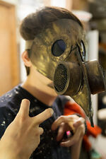 Leather Plague Doctor mask handmade burning hot man steampunk comiccon