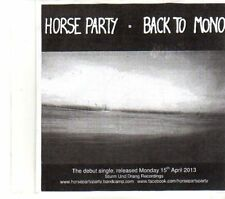 (DR487) Horse Party, Back To Mono - 2013 DJ CD