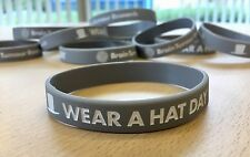 Brain Tumour Research - Wear A Hat Day Wristband - Grey