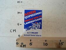 STICKER,DECAL ASSEN IJSSPEEDWAY FINALE WK 1993 HOLLAND, ICESPEEDWAY,BREMER