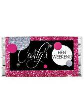 DISCO PERSONALISED CHOCOLATE BAR HEN NIGHT PARTY HEN DO GIFT CHOCOLATE BAR